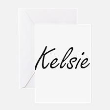 Kelsie artistic Name Design Greeting Cards