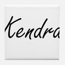 Kendra artistic Name Design Tile Coaster