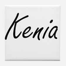 Kenia artistic Name Design Tile Coaster