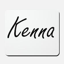 Kenna artistic Name Design Mousepad