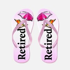 Beach Retirement Flip Flops