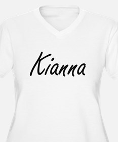 Kianna artistic Name Design Plus Size T-Shirt