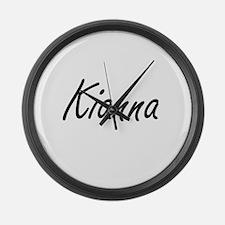 Kianna artistic Name Design Large Wall Clock