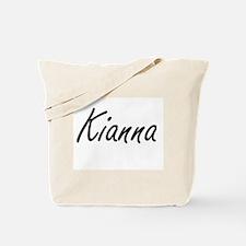 Kianna artistic Name Design Tote Bag