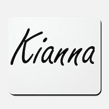 Kianna artistic Name Design Mousepad