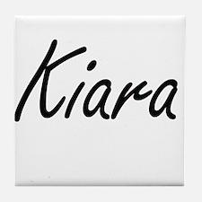 Kiara artistic Name Design Tile Coaster