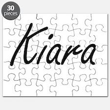 Kiara artistic Name Design Puzzle