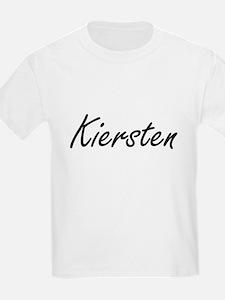 Kiersten artistic Name Design T-Shirt