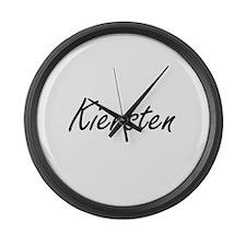Kiersten artistic Name Design Large Wall Clock