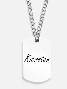 Kiersten artistic Name Design Dog Tags