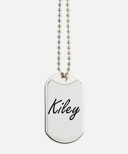 Kiley artistic Name Design Dog Tags