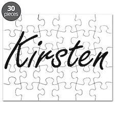 Kirsten artistic Name Design Puzzle