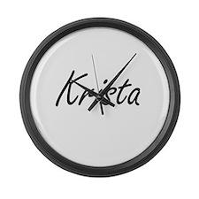 Krista artistic Name Design Large Wall Clock