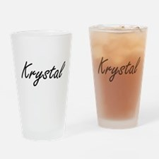 Krystal artistic Name Design Drinking Glass