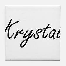 Krystal artistic Name Design Tile Coaster
