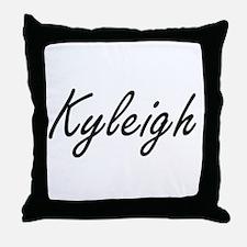 Kyleigh artistic Name Design Throw Pillow