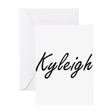 Kyleigh artistic Name Design Greeting Cards