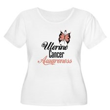 Uterine Cancer Awareness Butterfly Plus Size T-Shi