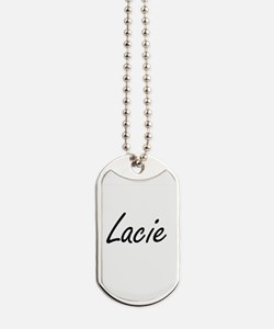Lacie artistic Name Design Dog Tags
