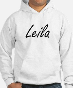 Leila artistic Name Design Jumper Hoody