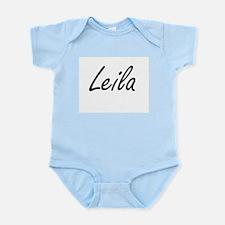 Leila artistic Name Design Body Suit