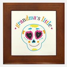 Grandma's Sugar Skull Framed Tile