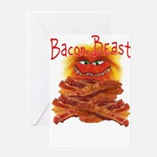 Bacon Beast Greeting Cards