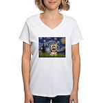 STARRY / Yorkie (17) Women's V-Neck T-Shirt