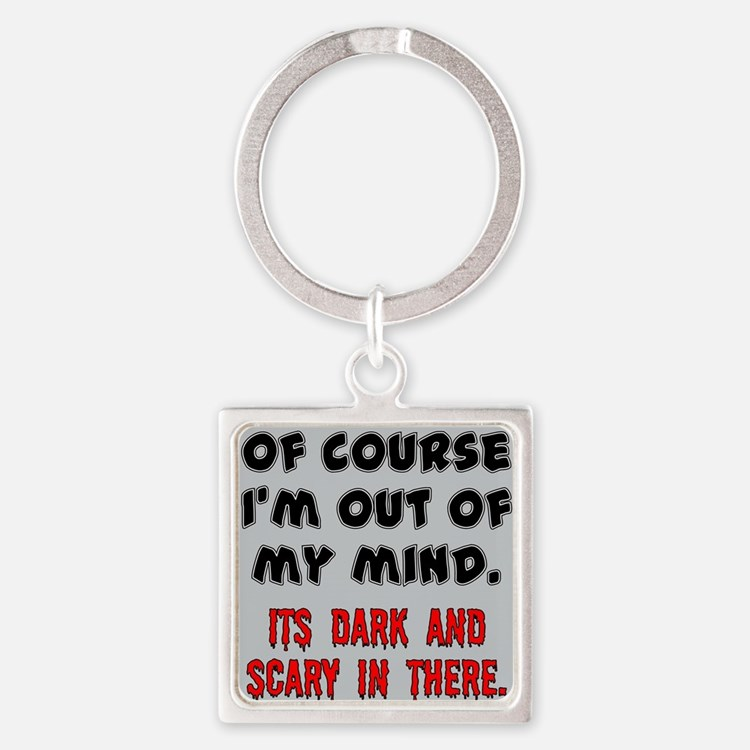 DARK AND SCARY Square Keychain