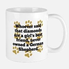 German Shepherds Are A Girls Best Friend Mugs