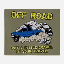 GRAVEL IN MY TRAVEL Throw Blanket