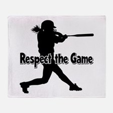 RESPECT THE GAME Throw Blanket