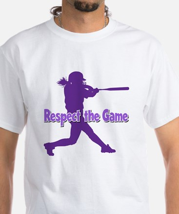 RESPECT THE GAME White T-Shirt