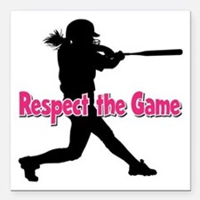 "RESPECT THE GAME Square Car Magnet 3"" x 3"""
