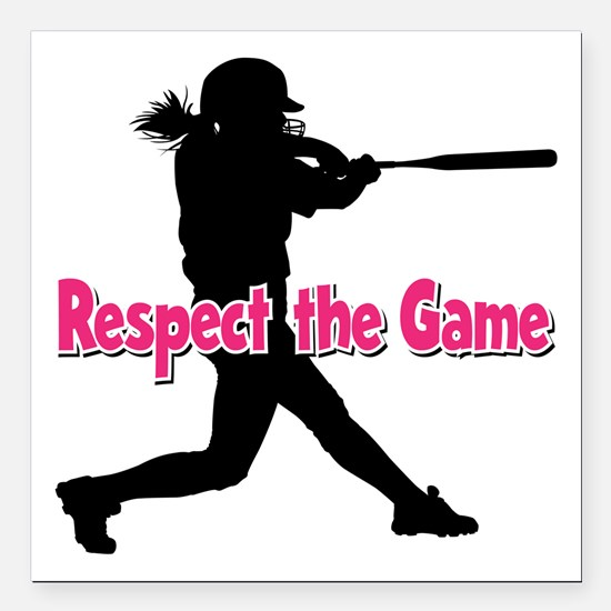 """RESPECT THE GAME Square Car Magnet 3"""" x 3"""""""