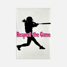 RESPECT THE GAME Rectangle Magnet