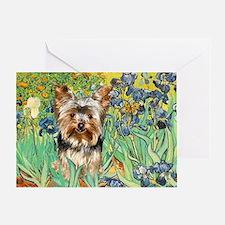 IRISES / Yorkie (17) Greeting Card