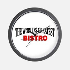 """The World's Greatest Bistro"" Wall Clock"