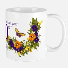 60th Birthday Floral And Butterfly Mug Mugs
