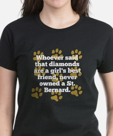 St. Bernards Are A Girls Best Friend T-Shirt