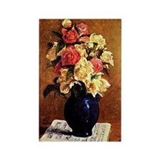 Gauguin - Bouquet of Peonies on a Rectangle Magnet
