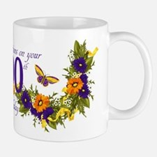 100th Birthday Mug With Butterflies And Mugs
