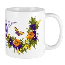 99th Birthday Mug With Butterflies And Mugs