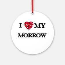 I Love MY Morrow Ornament (Round)