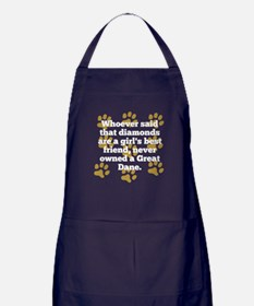 Great Danes Are A Girls Best Friend Apron (dark)