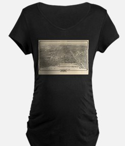 Vintage Pictorial Map of Chicago Maternity T-Shirt