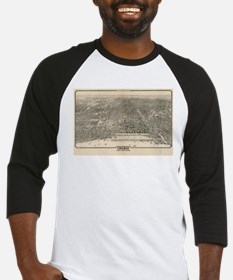 Vintage Pictorial Map of Chicago ( Baseball Jersey