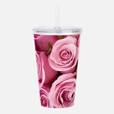 Pink Roses Acrylic Double-wall Tumbler