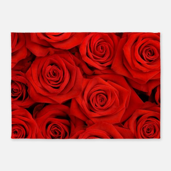 Red Roses 5'x7'Area Rug