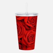 Red Roses Acrylic Double-wall Tumbler